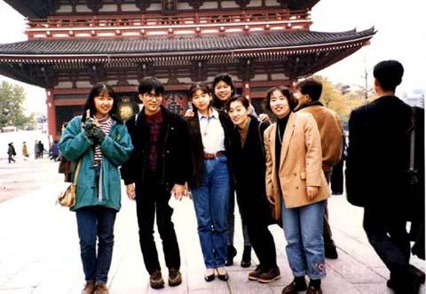 1991年 平成3年 東京浅草にて国語学実習 教育学部
